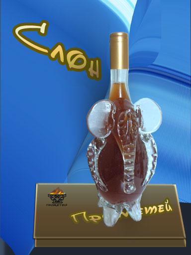 Сувенирная бутылка,эксклюзивные стеклобутылки, штофы,подарочные изделия.